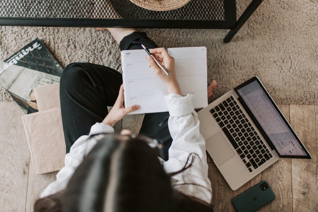 Overhead Study Woman