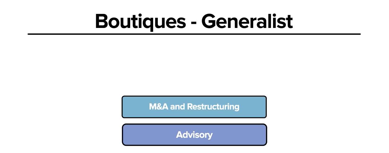Boutique Junior Bankers, Generalist